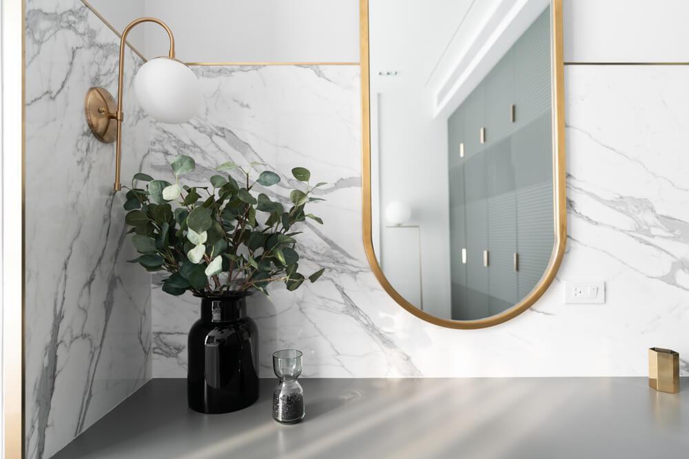 Spiegel met gouden rand zelf maken