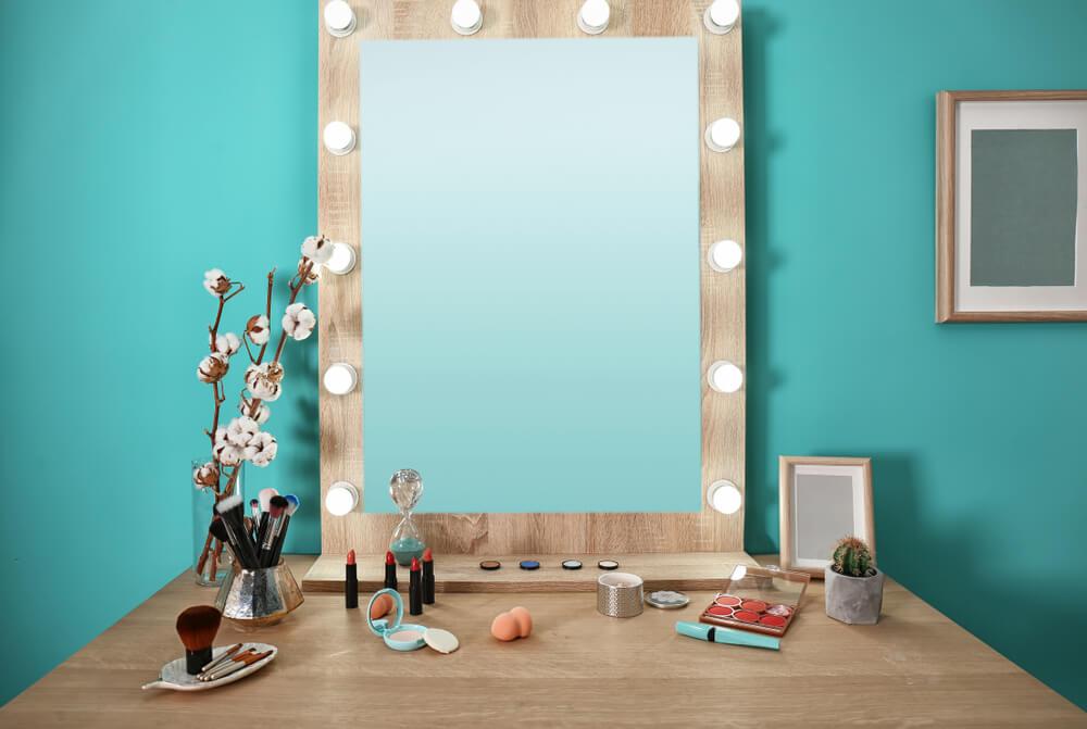 Verlichting in je spiegel groot