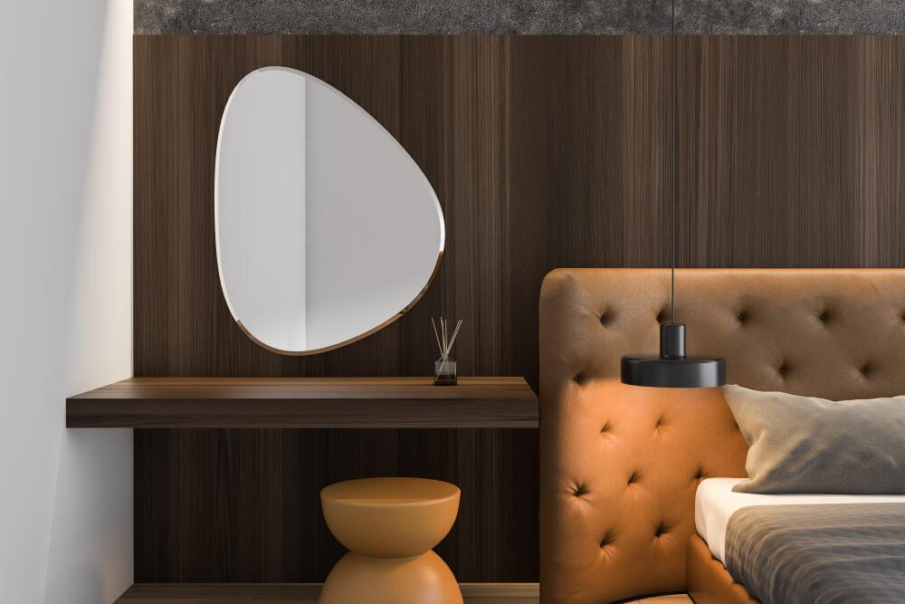 Grote spiegels met asymmetrische vorm