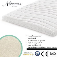 5. Nirwana Bedden - Topdekmatras - 160x200 - Nasa Traagschuim - 7CM