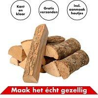 In Round Open Haard Hout Box 15 KG Inclusief Aanmaakhout