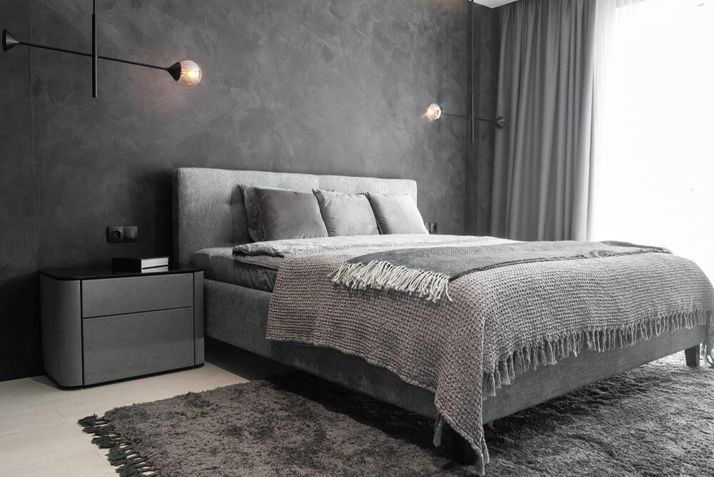 Grijze slaapkamer: basic en tijdloos