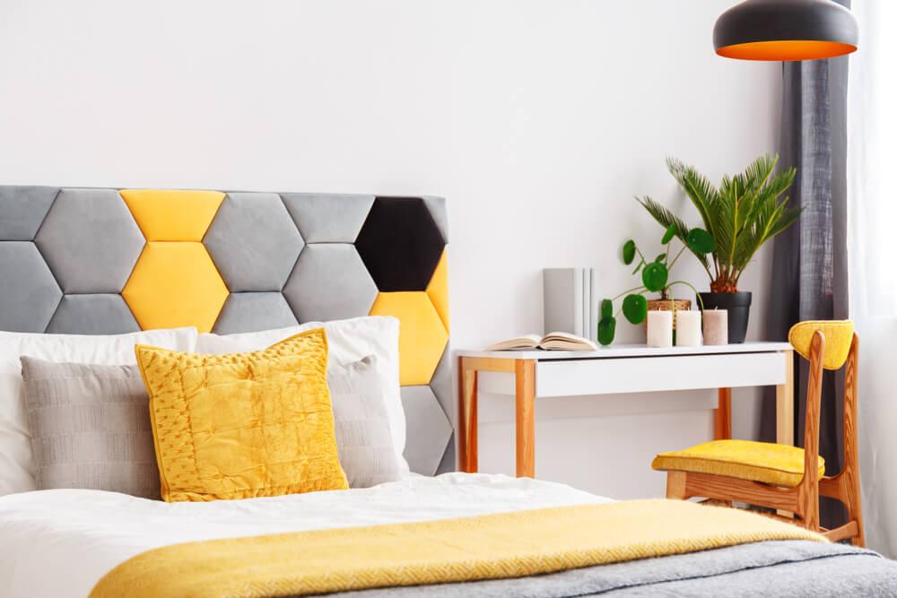 Gele slaapkamer: fris en fruitig