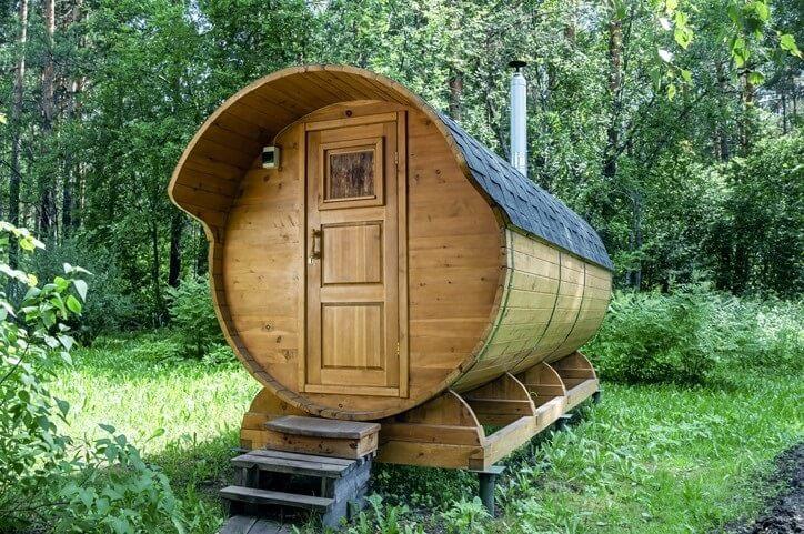 De barrel sauna