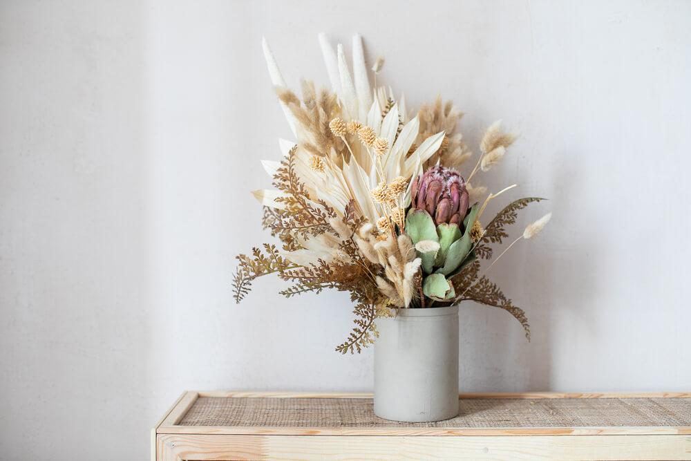 Voordelen van droogbloemen in huis